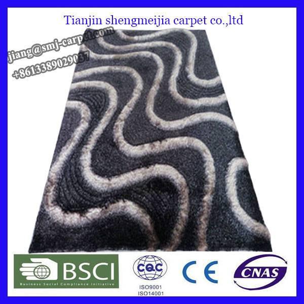 low price polyester fiber rug stock floor mat
