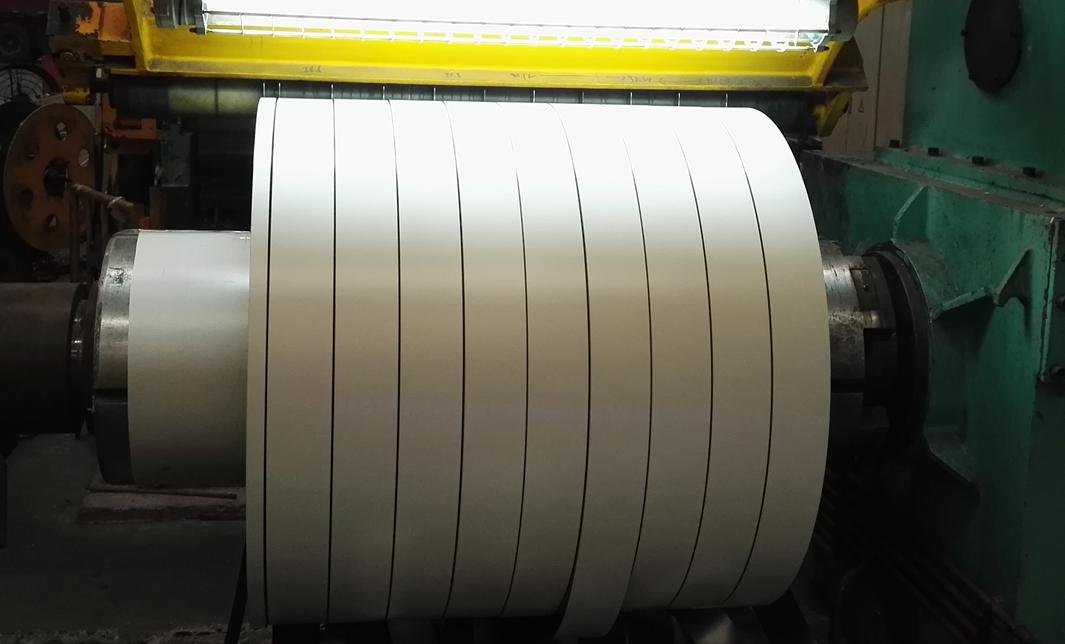 prepainted steel sheet and strip