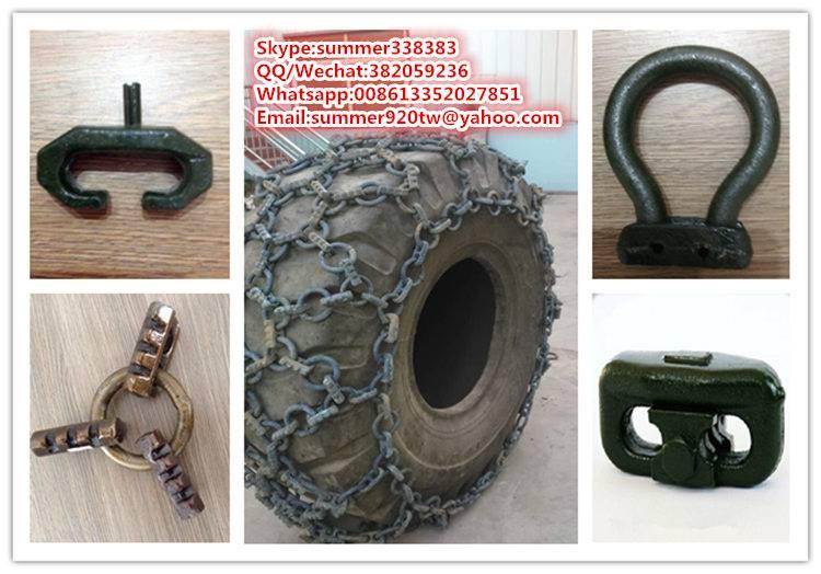 Snow chain snow tire chain tire protection chain