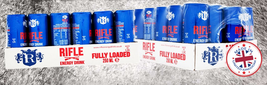 RIFLE ENERGY DRINK 250ml x 24 , origin UK