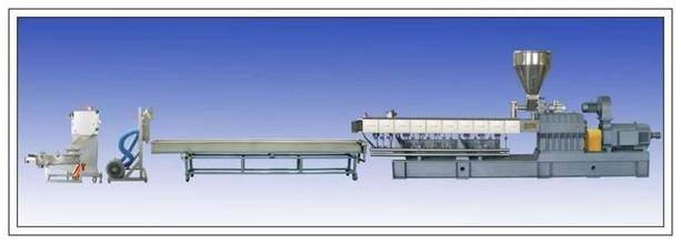 High efficiency plastic extruding granulating production line