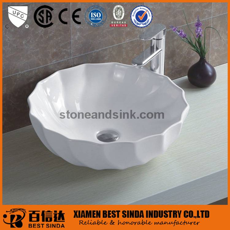 Pefect lotus shape bathroom sink bowls