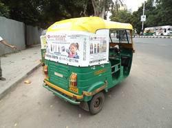 Advertisement on Auto Rickshaw
