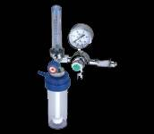 oxygen flowmeter with humidifier bottle cylinder type
