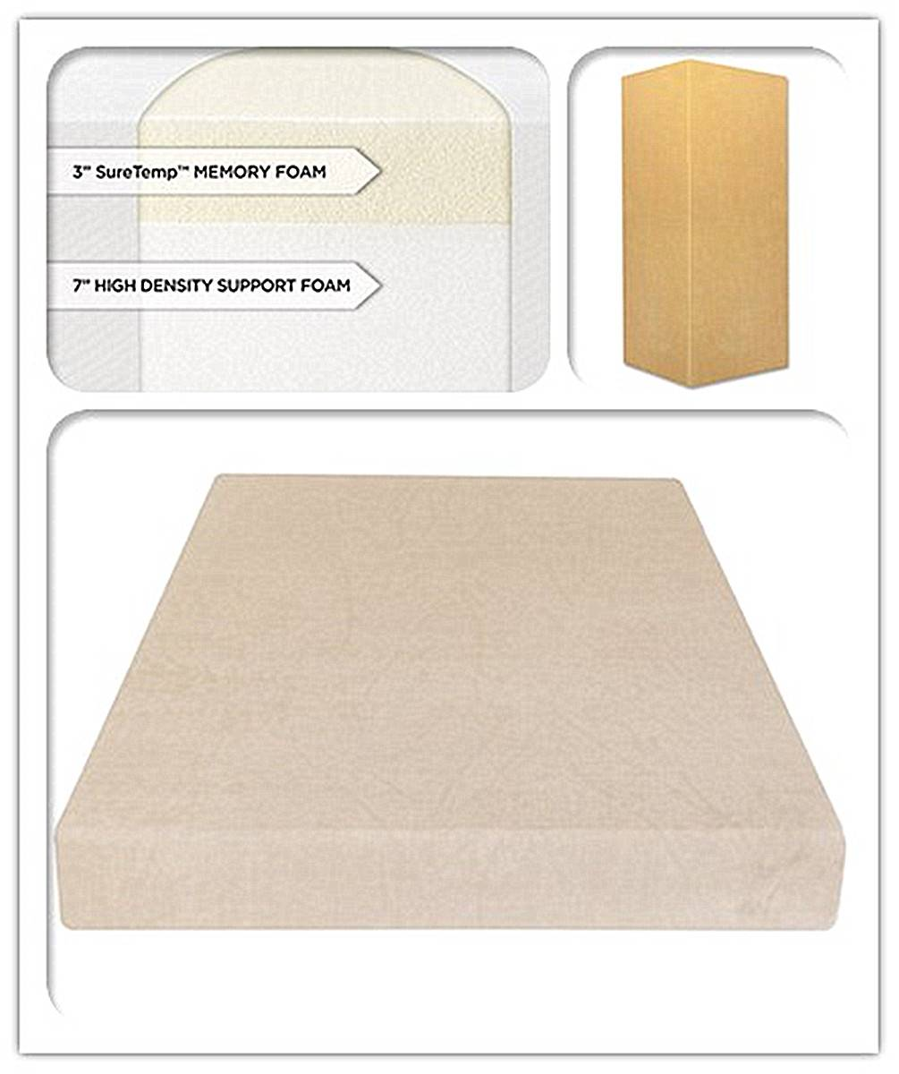 10-Inch SureTemp Memory Foam Mattress