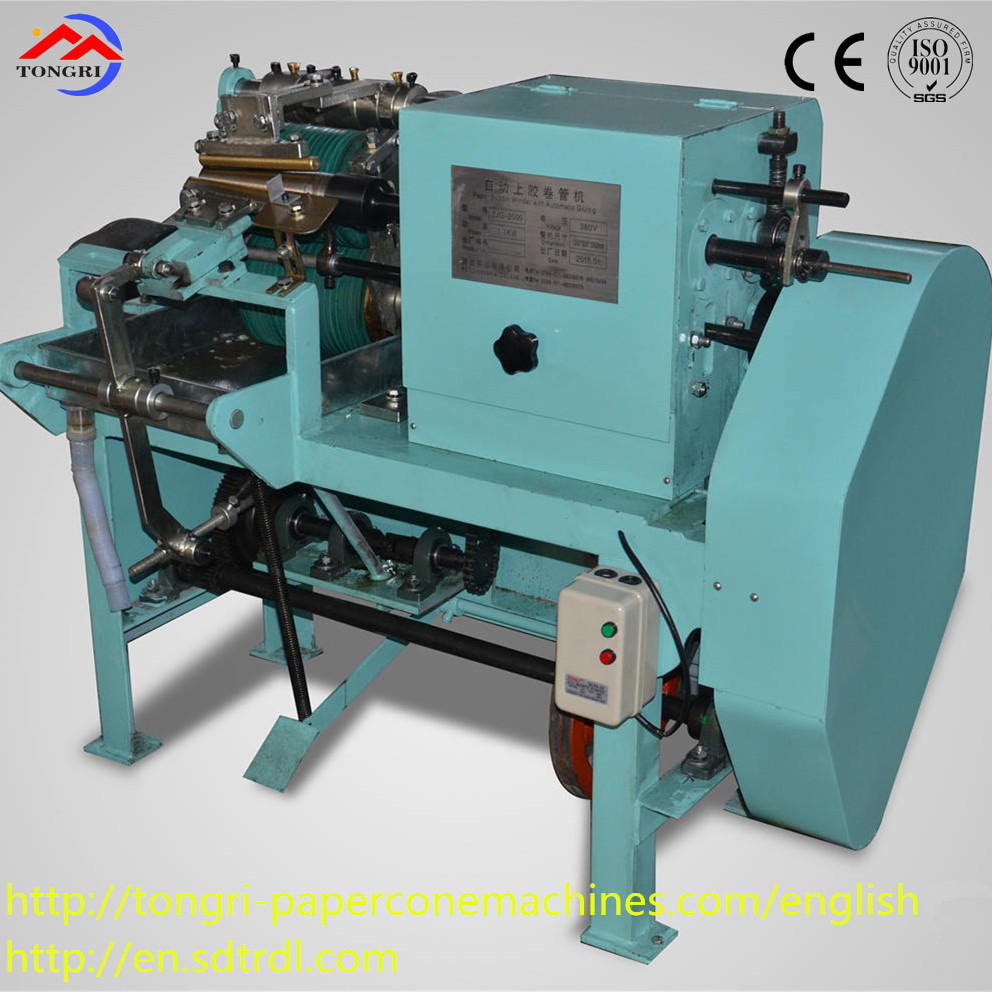 Semi-automatic conical paper tube production line