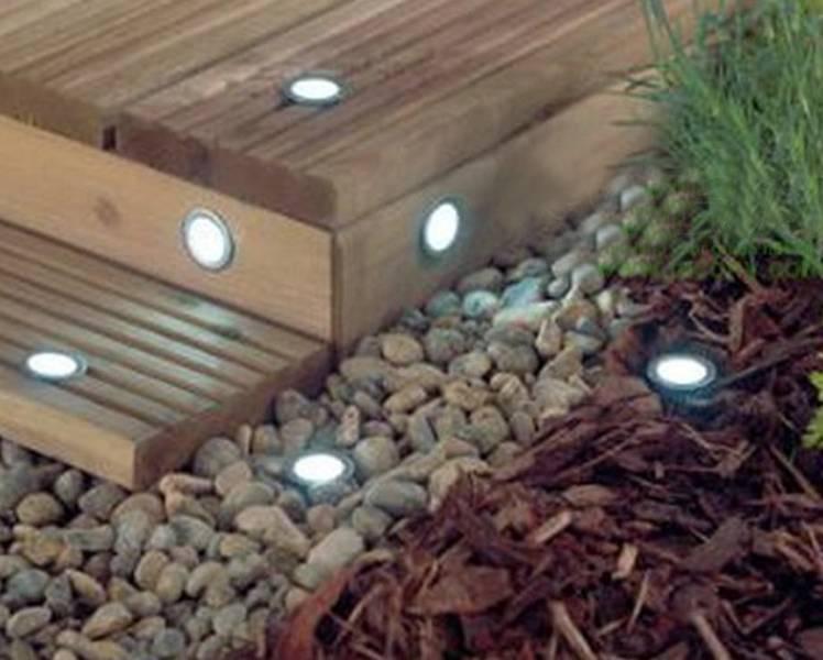 Solar Power LED Deck Lights Floor Lamp Stair Light Outdoor Waterproof Underground Lighting Solar Pan