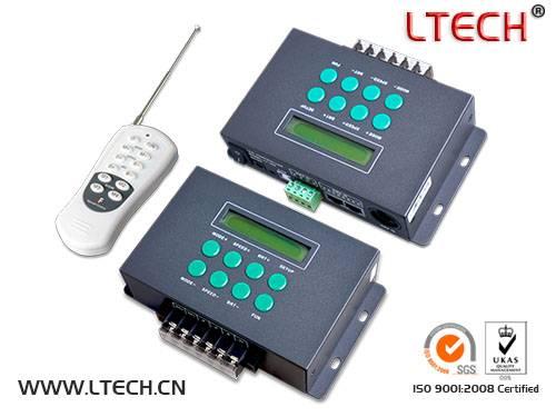HOT sale LED digital programmable RGB controller/ DMX512 decoder DC12v-24v 8A/CHx3