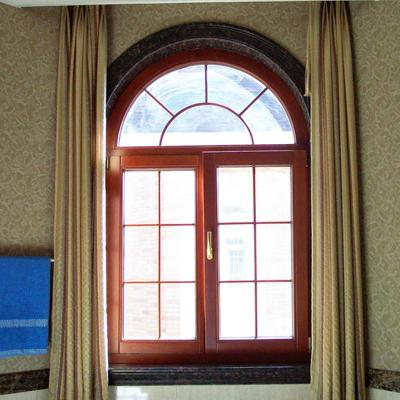 Heat-Insulated Wood Package Aluminum Doors And Windows Fire Resistant Soundproof Appearance