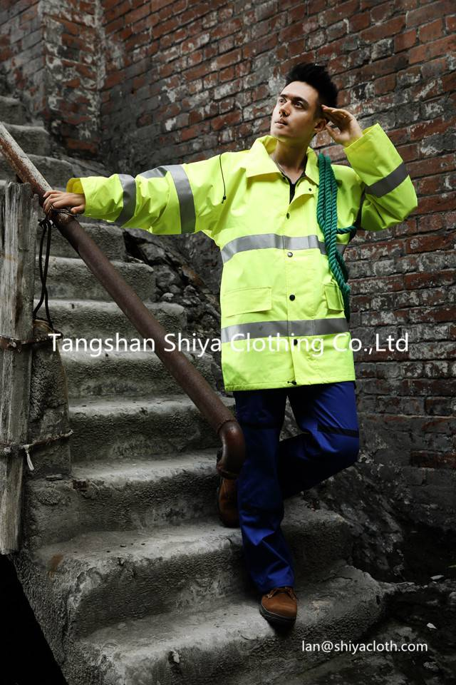 warm safety 100% polyester workwear uniform for winter