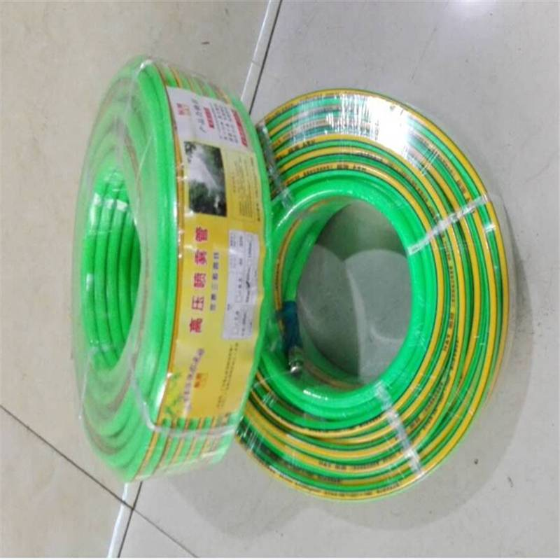 PVC Hose, Green, 50 feet spray nozzle hose connect