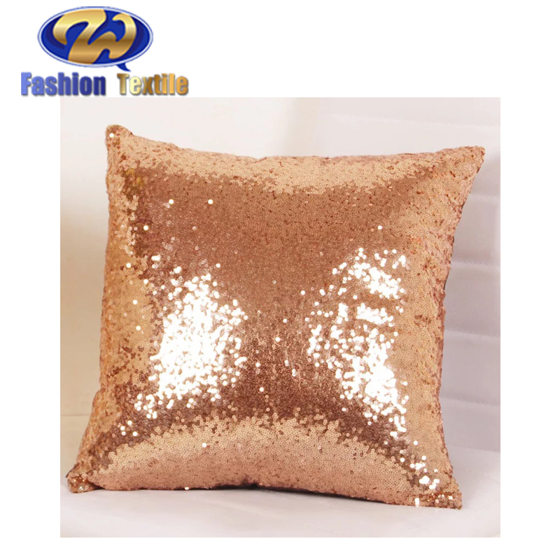 Factory Supply Custom Handmade Sequin Cushion Cover