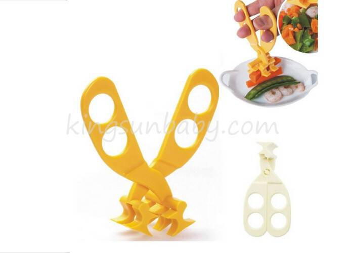 Convenient Design Baby Food Scissors , Infant Vegetable Masher Slicer