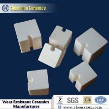 Inter-locking Alumina wear ceramic block with groove and tongues