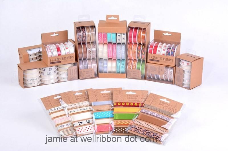 Ribbon set for Packaging, Scrapbook, DIY