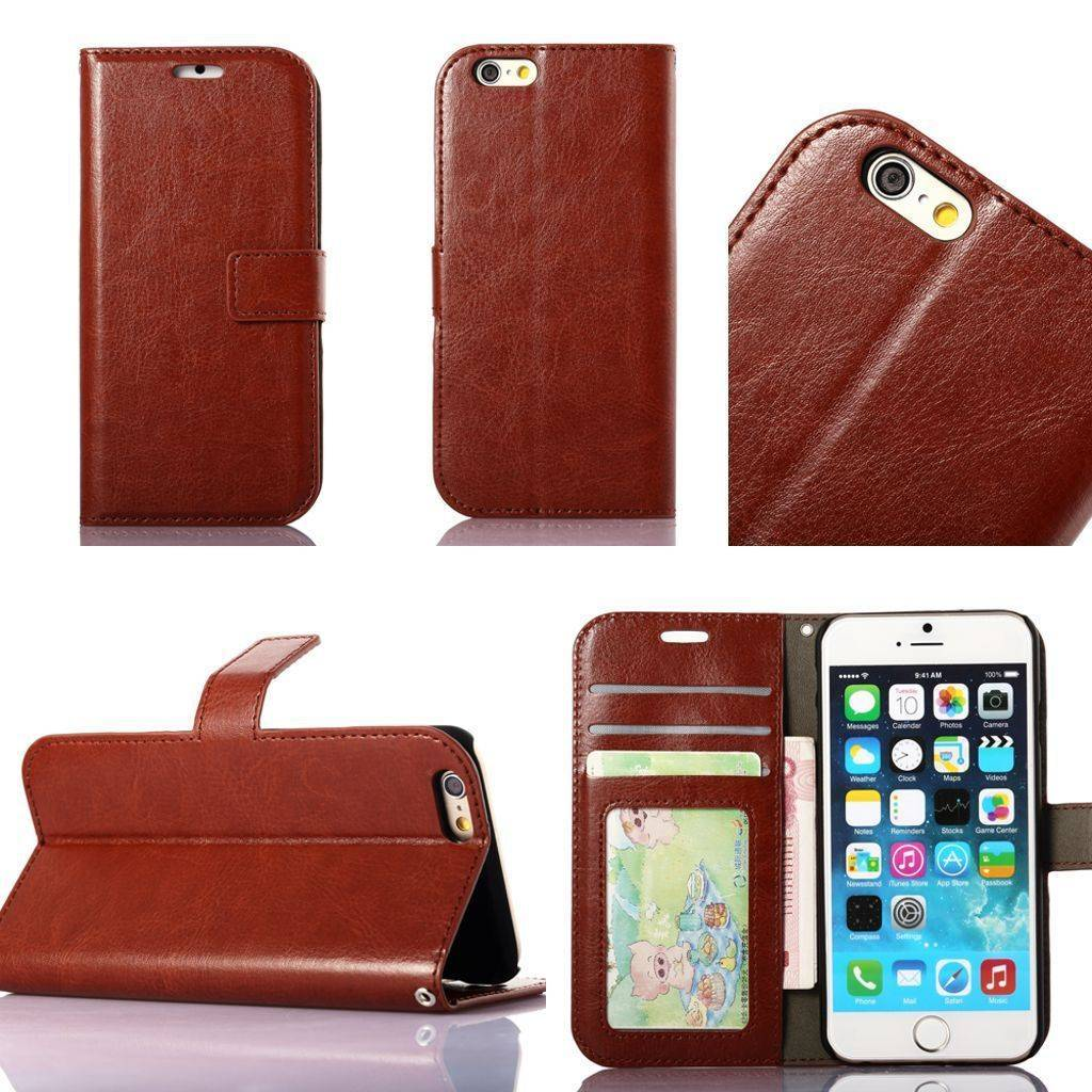 Phone Case iPhone 7 6 6S Plus 5S Vintage Retro Flip Stand Wallet Leather Case Phone Cover For iphone