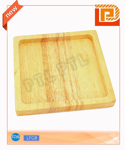 square wooden food holder in simple style