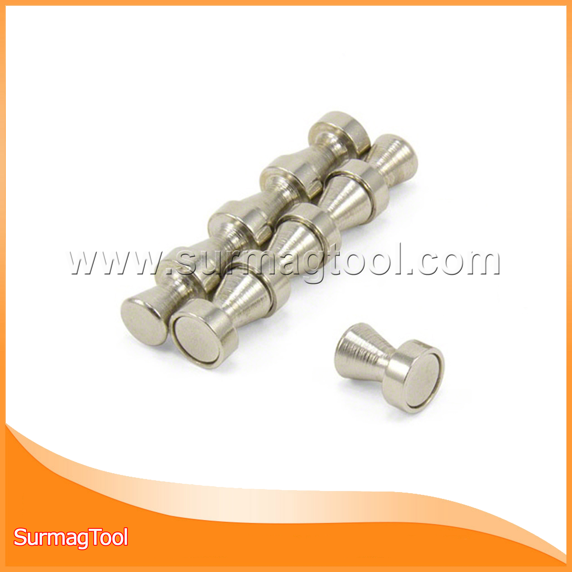 Strong neodymium custom metal Steel magnetic pin