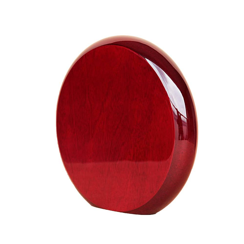 round rosewood high gloss finish plaque