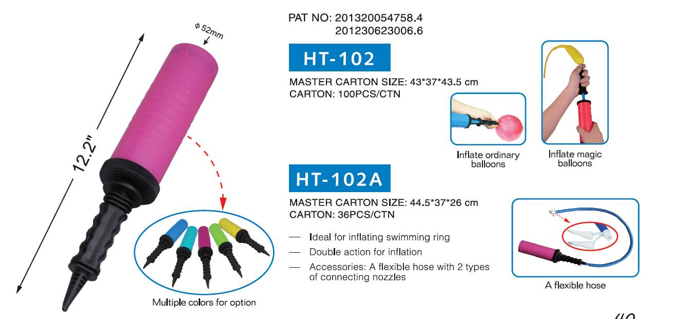 HT-102 / HT-102A   BALLOON HAND PUMP