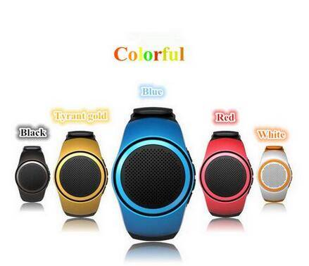 Portable Riding Bluetooth Watch Speaker With Watchband Outdoor Sports Wireless Mini Speakers