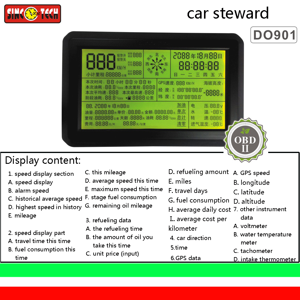 DO901 automobile OBD multi-function instrument, driving computer diagnostic instrument, speed meter