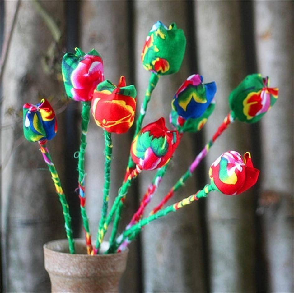 Artificial tulips flower arrangement