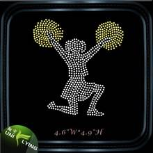 Cheer leader custom rhinestone iron on transfer
