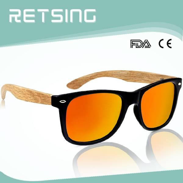 2015 good quality fashion PC eyewear wholesale wooden sunglasses wood frame bamboo sun glasses