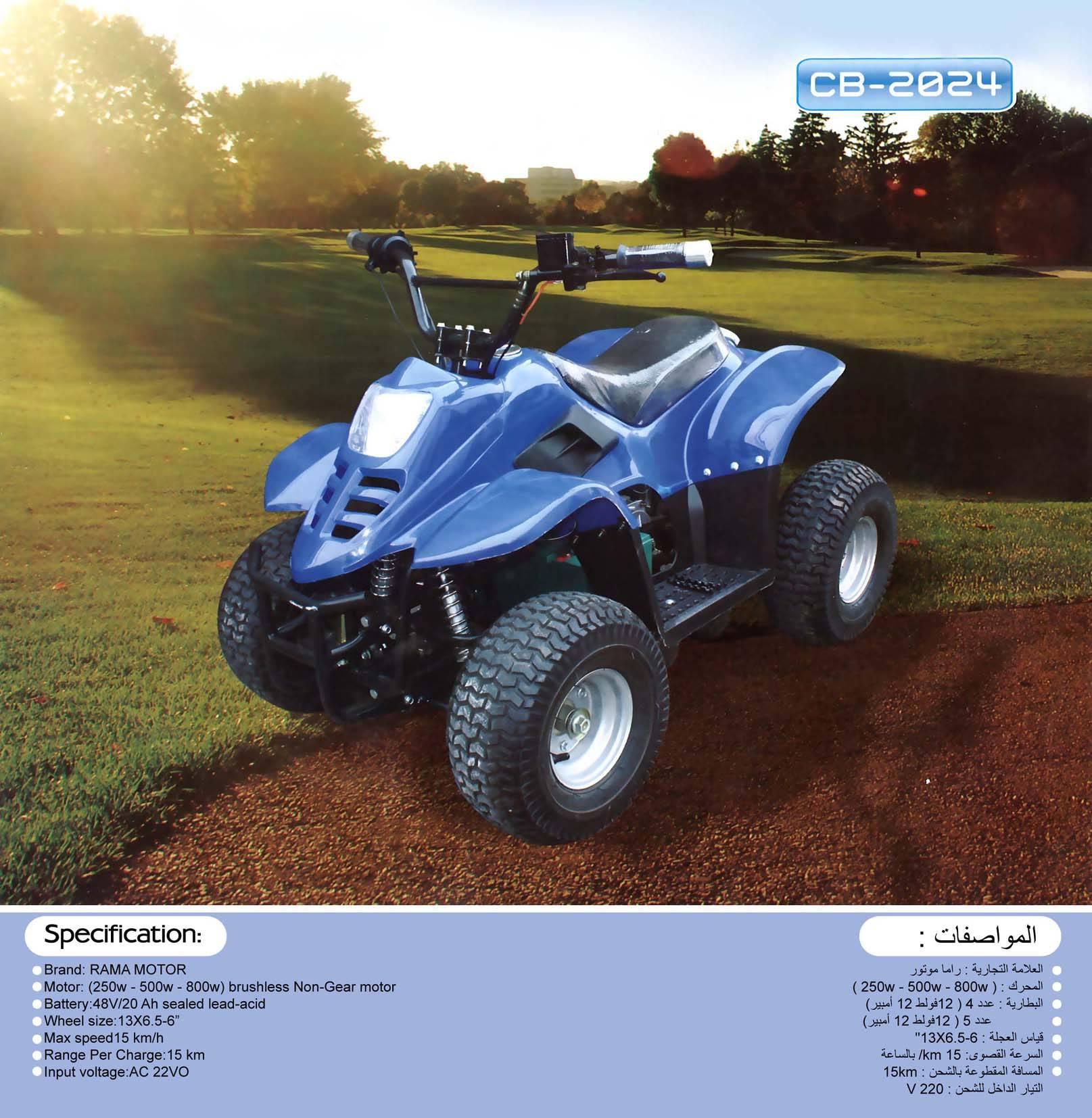 500 w Electric Atv 4 wheel