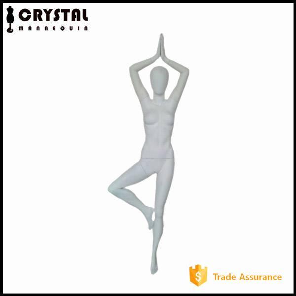 yoga pose female mannequin