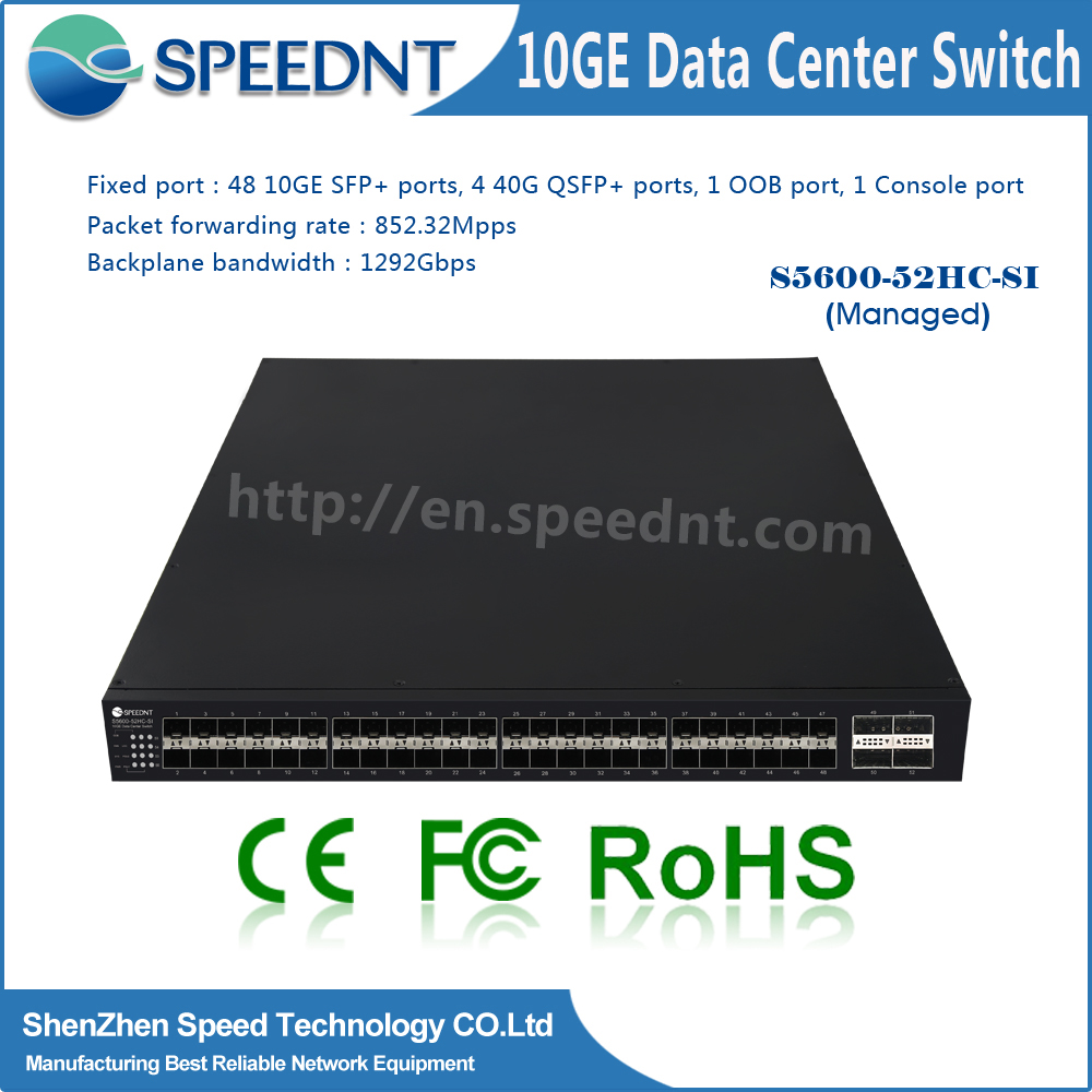Manageable 10 gigiabit 48 port sfp managed layer 3 switch with 440G QSFP+ Port fiber switch