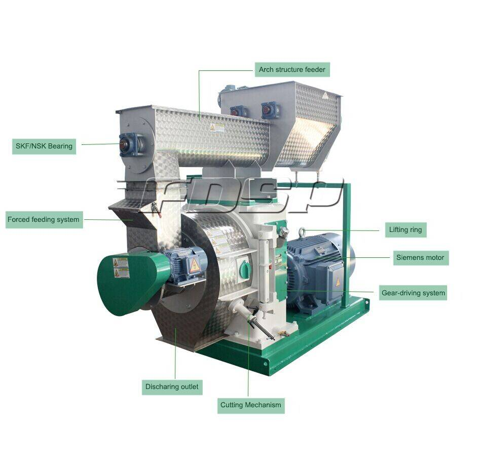 wood pellet production line with CE certified