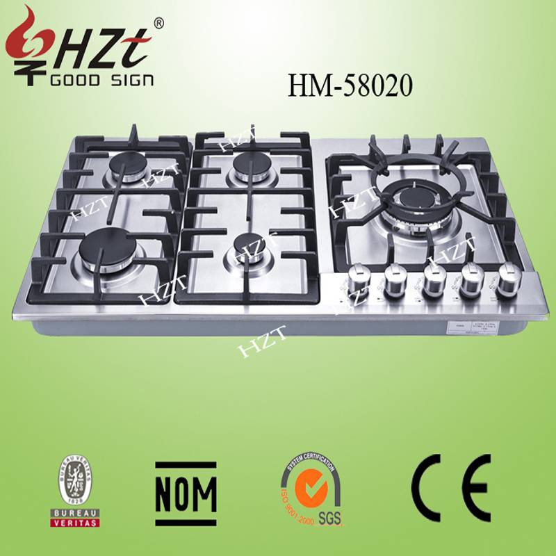 2015 Europe type 5 burners gas stove manufacturers china