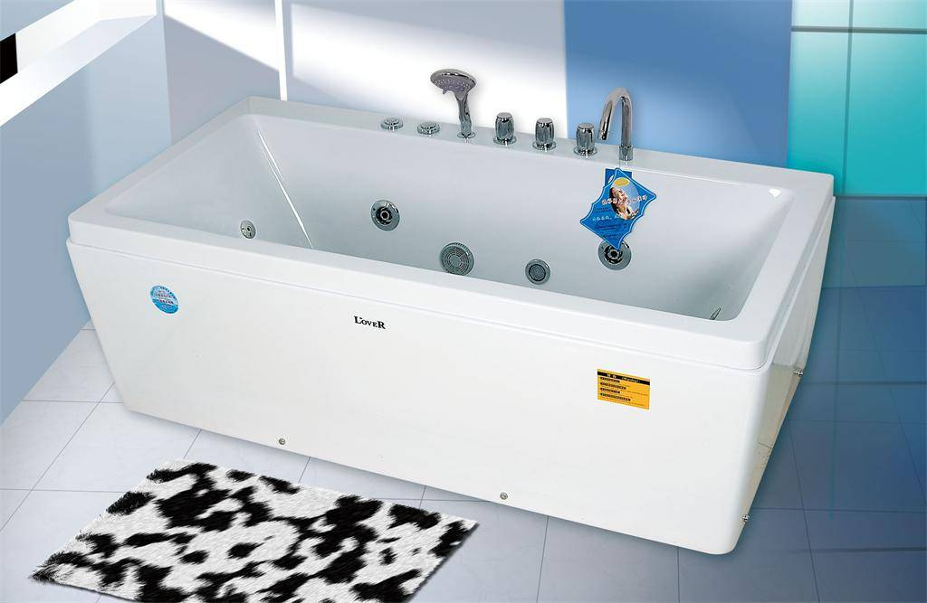 Modern Freestanding Square Whirlpool Massage Bathtub for Adult