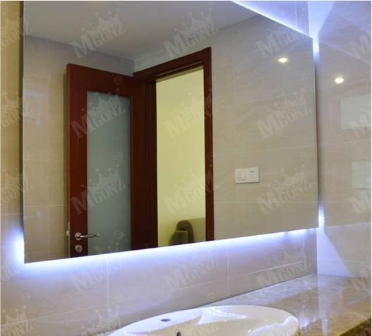 Mgonz belt led lighting bathroom mirror translucidus rectangle mirror