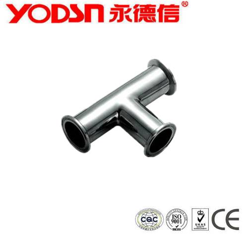 SS304 SS316 Sanitary Stainless steel Food Grade Tee