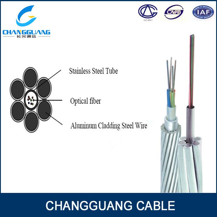 OPGW Overhead Ground Wire outdoor fiber optical cable/opgw cable
