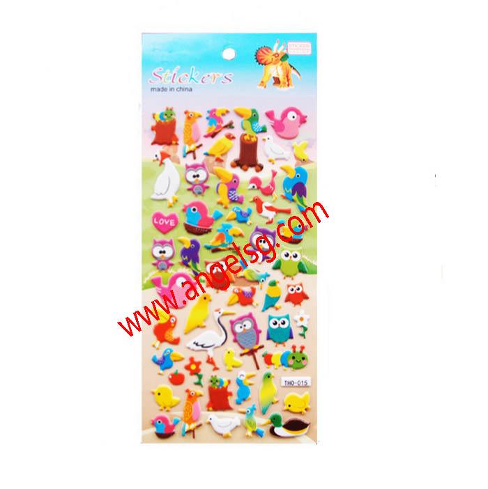 Cute Animal Zoo Children Puffy Stickers