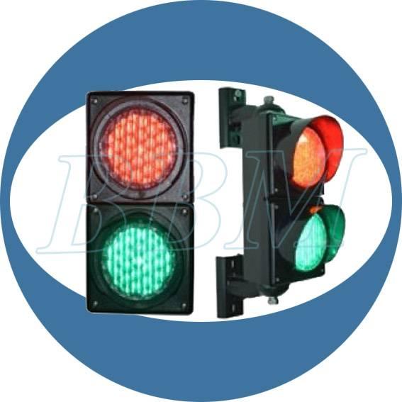 100mm red green led bulb traffic light dual lens