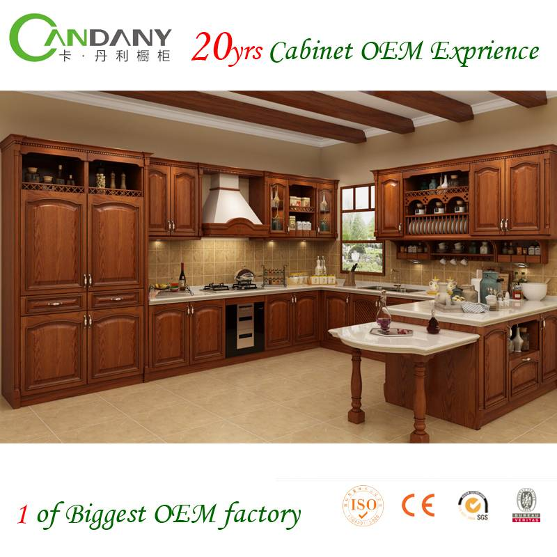20 Yrs in OEM/ODM Chinese/Antique Style Whole House Customized Cabinet Solid wood kitchen cabinet