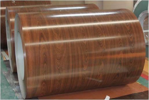 Wood grain pattern PPGI prepainted galvanized steel coil