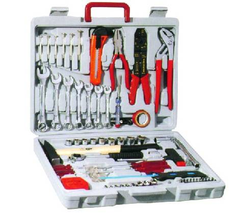 555PC Carbon Steel Tool Set with 3/8'' Socket Set