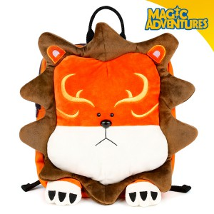 lion-shaped kids' backpack