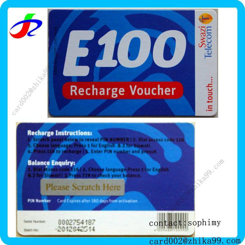 voip wireless tv recharge voucher printing