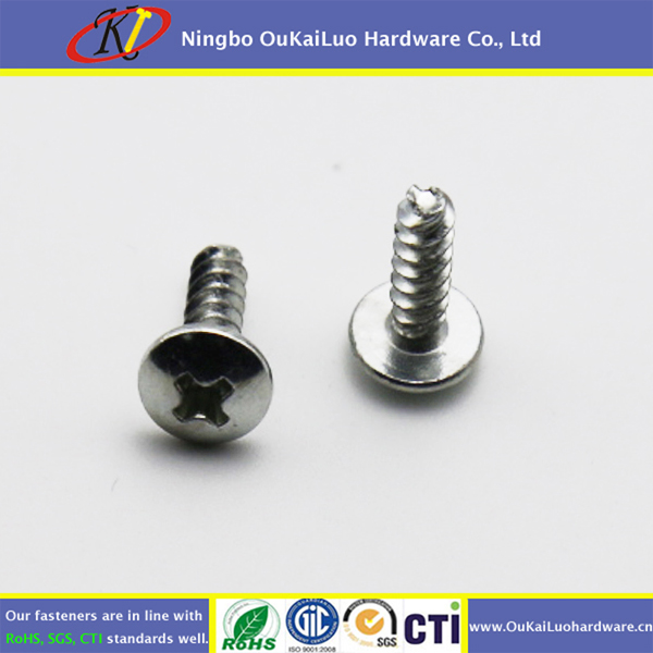 White Zinc phillips truss head thread cutting screws