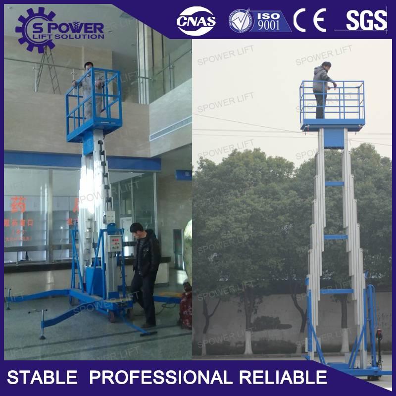 10M China hydraulic aluminum lift platform for paint