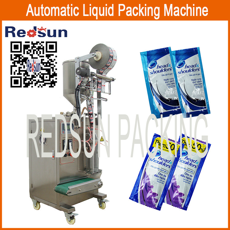 single lane automatic liquid shampoo sachet packing packaging machine
