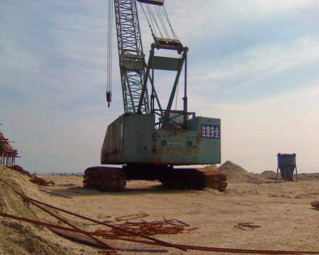 NISSHA DH350 55T used crawler crane for sale