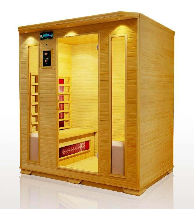 solid wood hemlock far infrared sauna